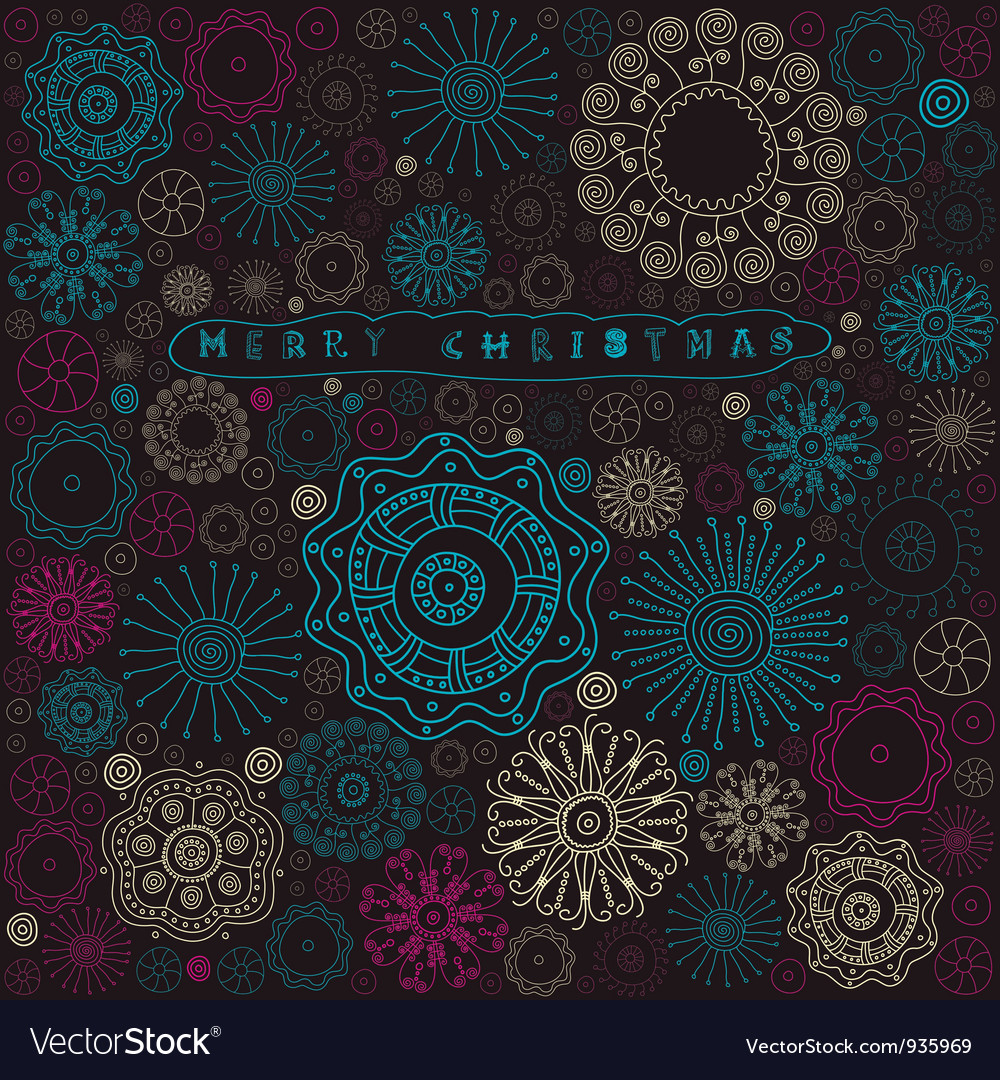 Vintage christmas pattern card vector | Price: 1 Credit (USD $1)