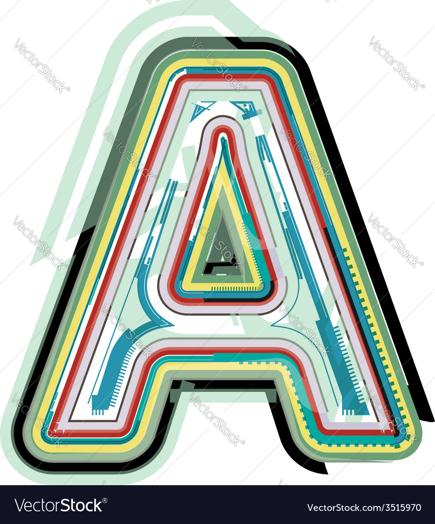 Abstract colorful letter a vector | Price: 1 Credit (USD $1)