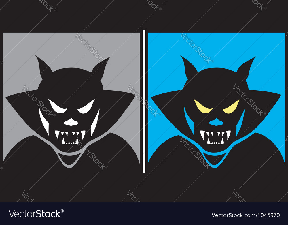 Dracula halloween mask 1 vector | Price: 1 Credit (USD $1)