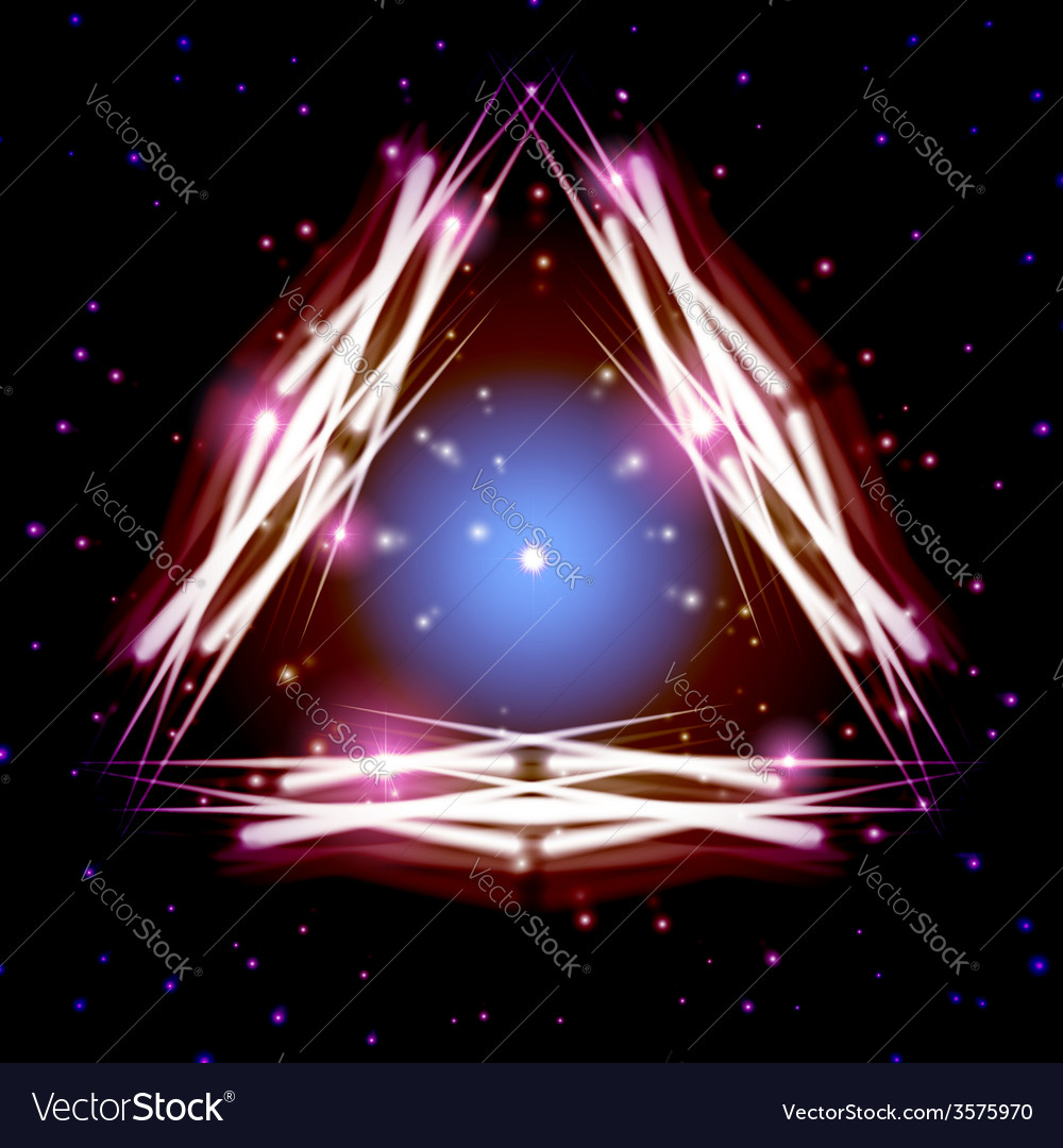 Mystic shiny triangle with sparkles vector   Price: 1 Credit (USD $1)