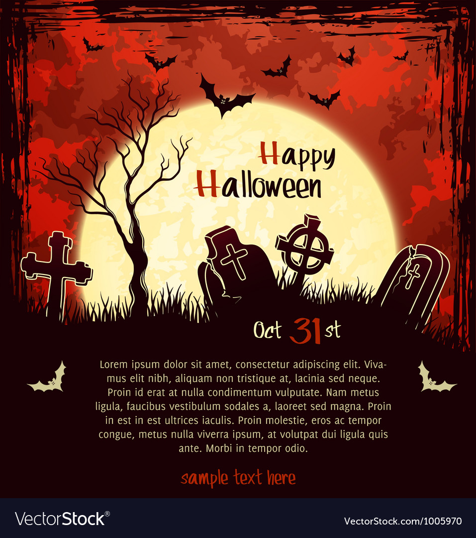 Red grungy halloween background vector | Price: 1 Credit (USD $1)
