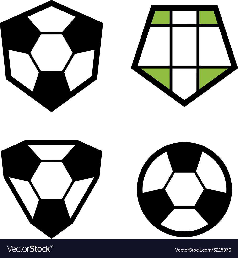 Soccer club emblem ball vector | Price: 1 Credit (USD $1)