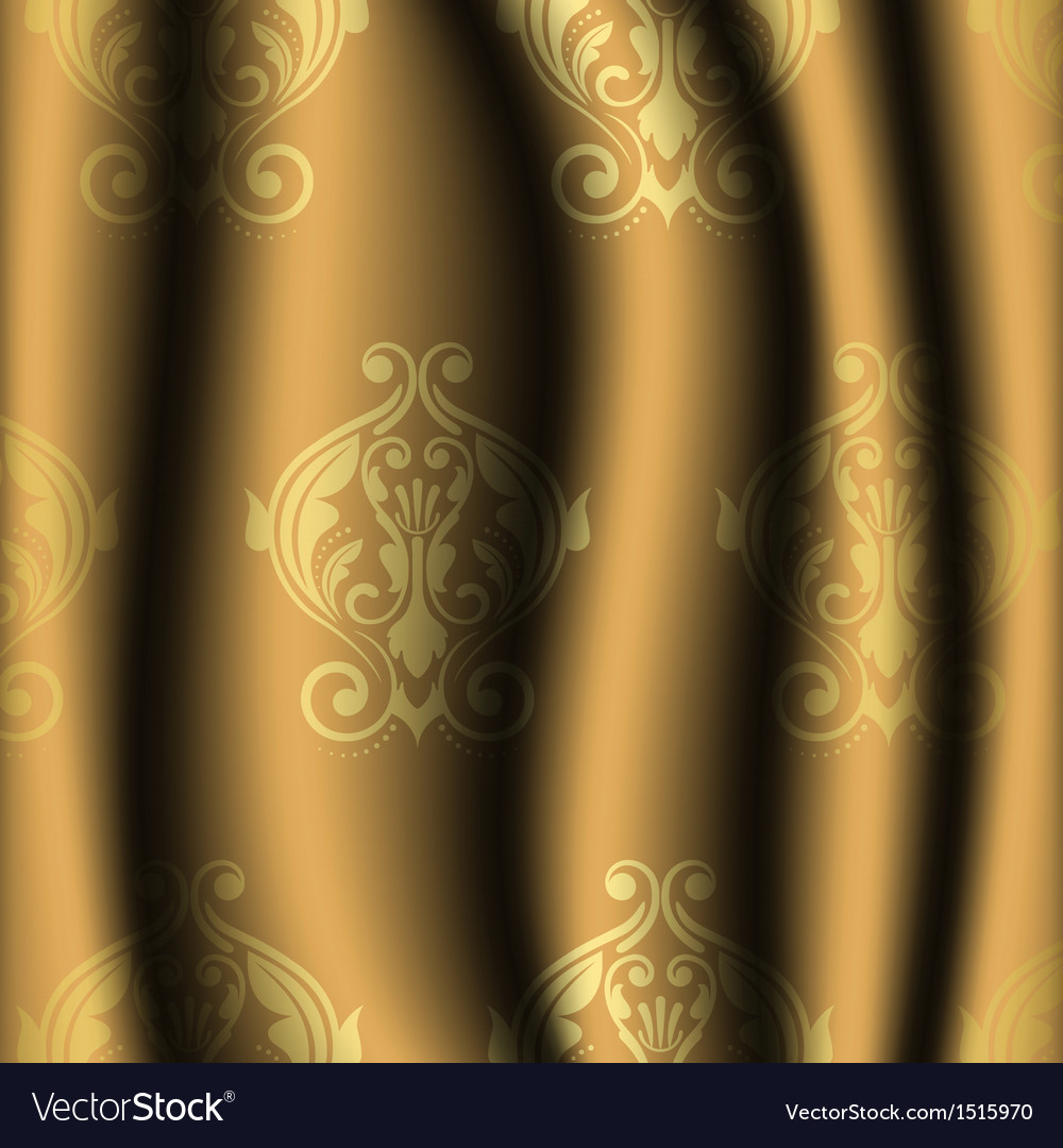 Vintage material with gold pattern vector | Price: 1 Credit (USD $1)