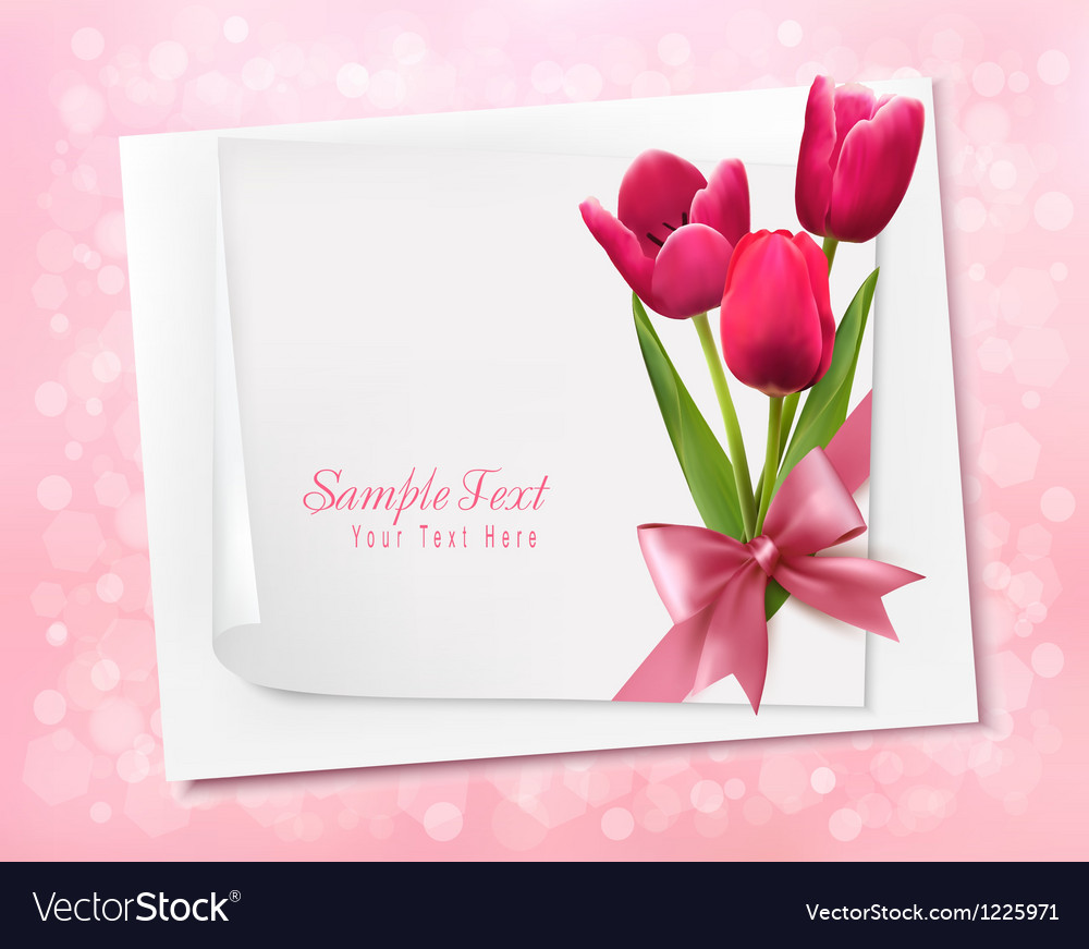 Holiday background with sheet of paper and flowers vector   Price: 3 Credit (USD $3)