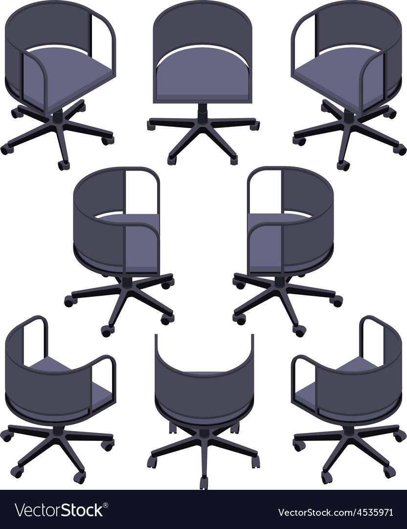 Isometric office spinning chair vector | Price: 1 Credit (USD $1)