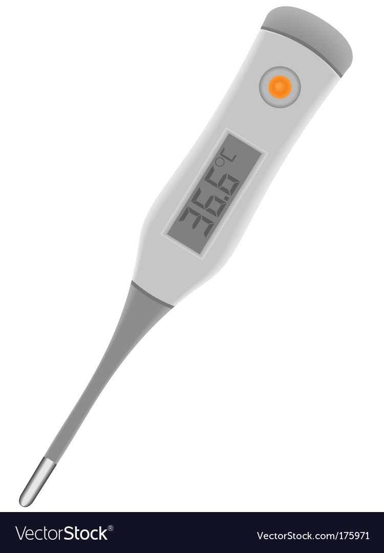 Medical electronic thermometer vector | Price: 1 Credit (USD $1)