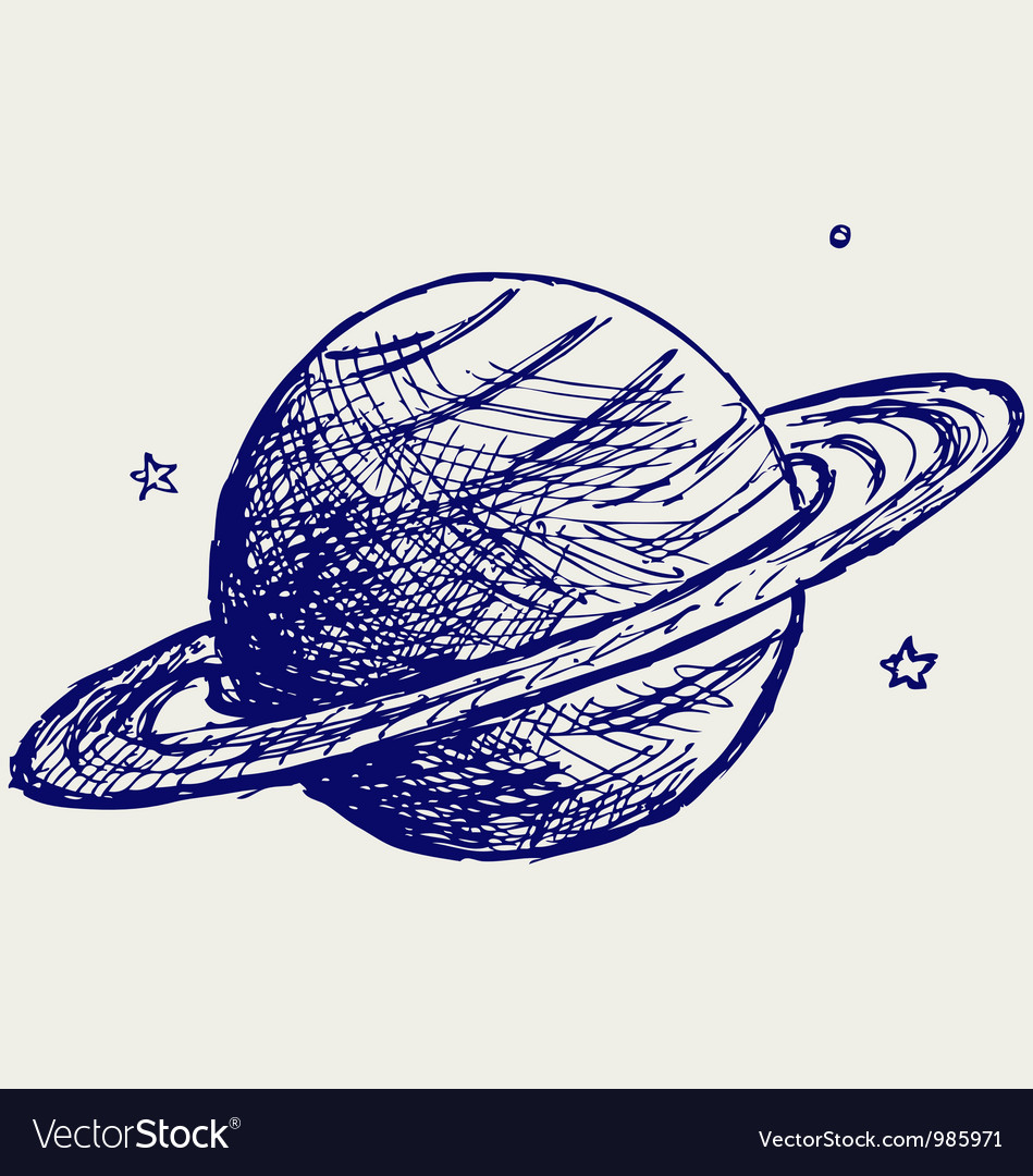 Planet saturn vector | Price: 1 Credit (USD $1)