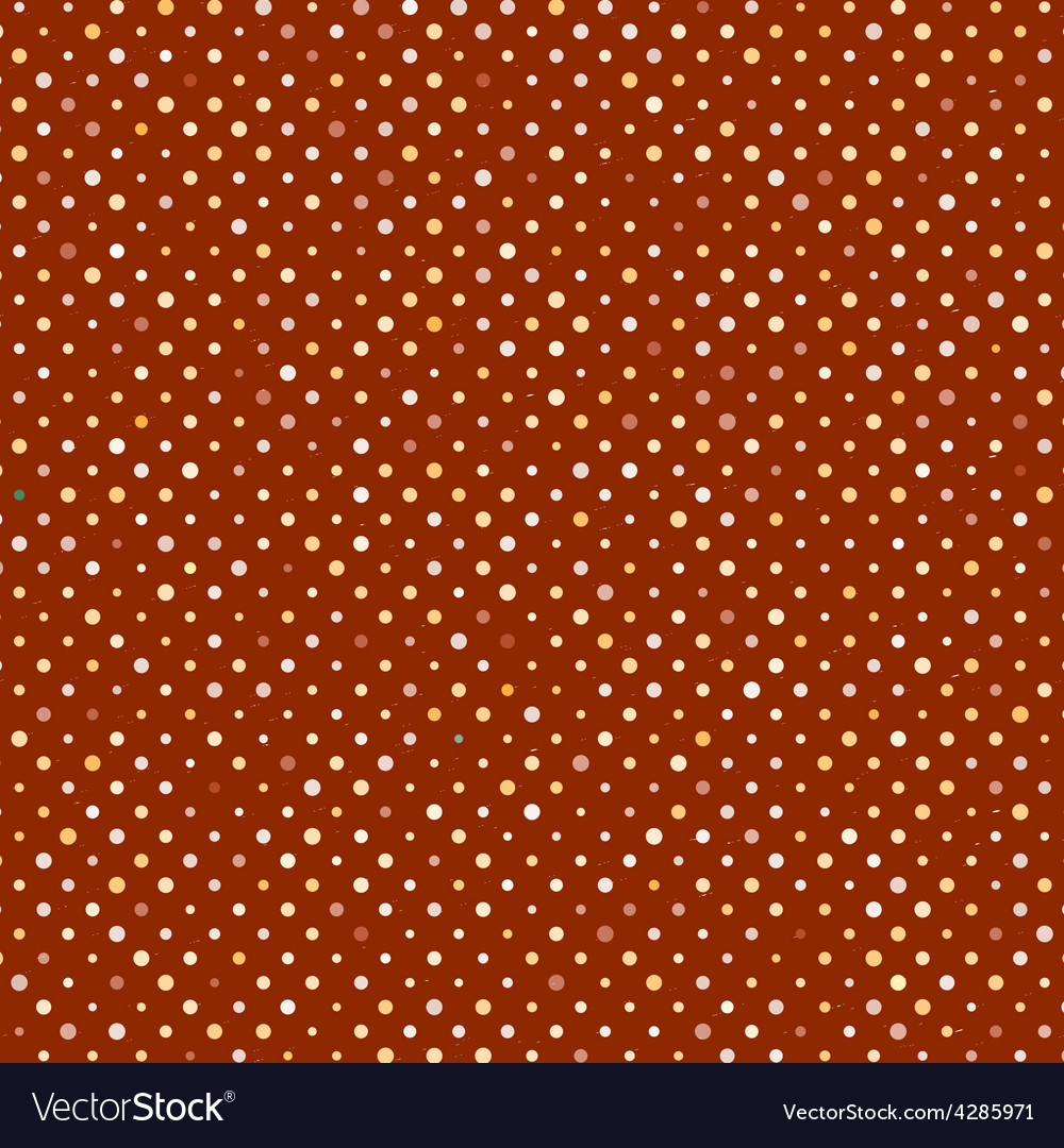 Polka dot old scratch pattern retro styled vector | Price: 1 Credit (USD $1)