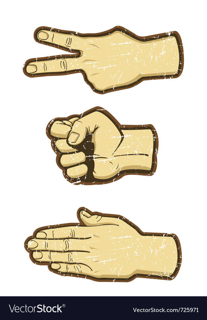 Rock scissors paper vector | Price: 1 Credit (USD $1)