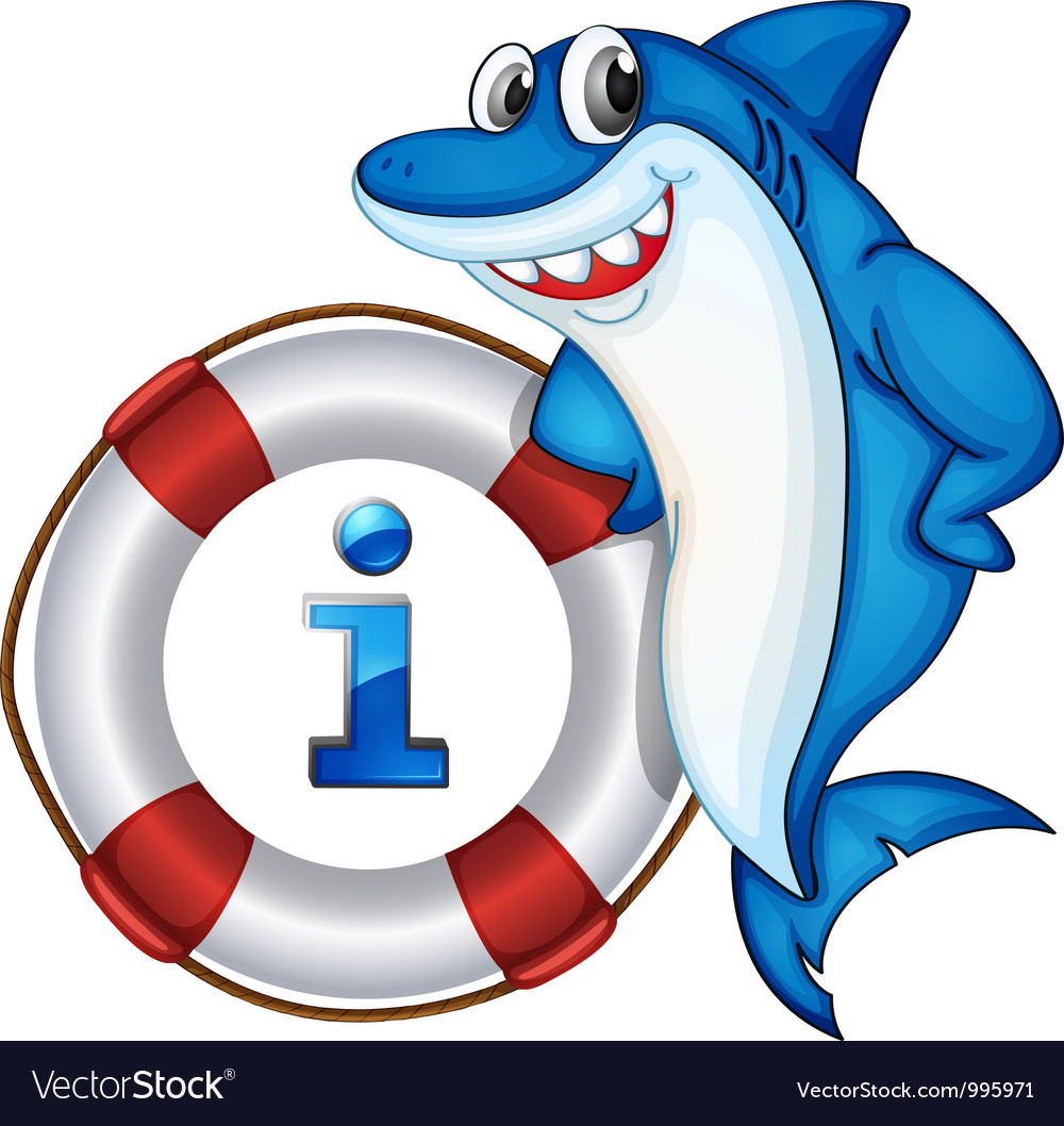 Shark information kiosk sign vector
