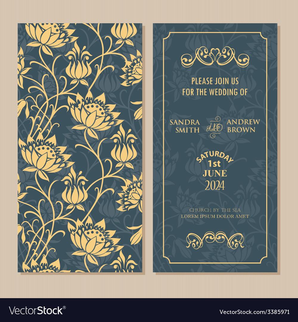 Vintage invitation 2 vector | Price: 1 Credit (USD $1)