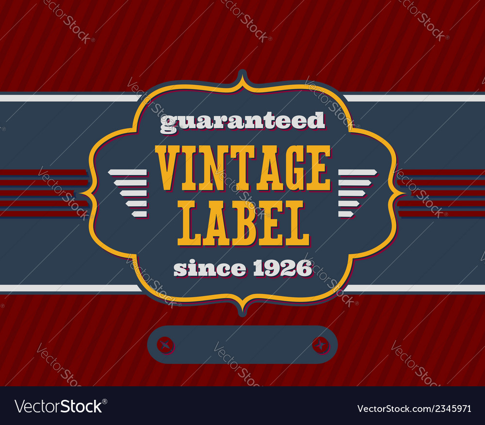 Vintage label with flat colors vector | Price: 1 Credit (USD $1)