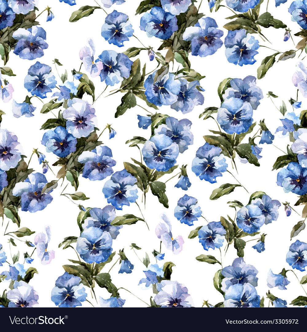 Blue flowers 3 vector | Price: 1 Credit (USD $1)