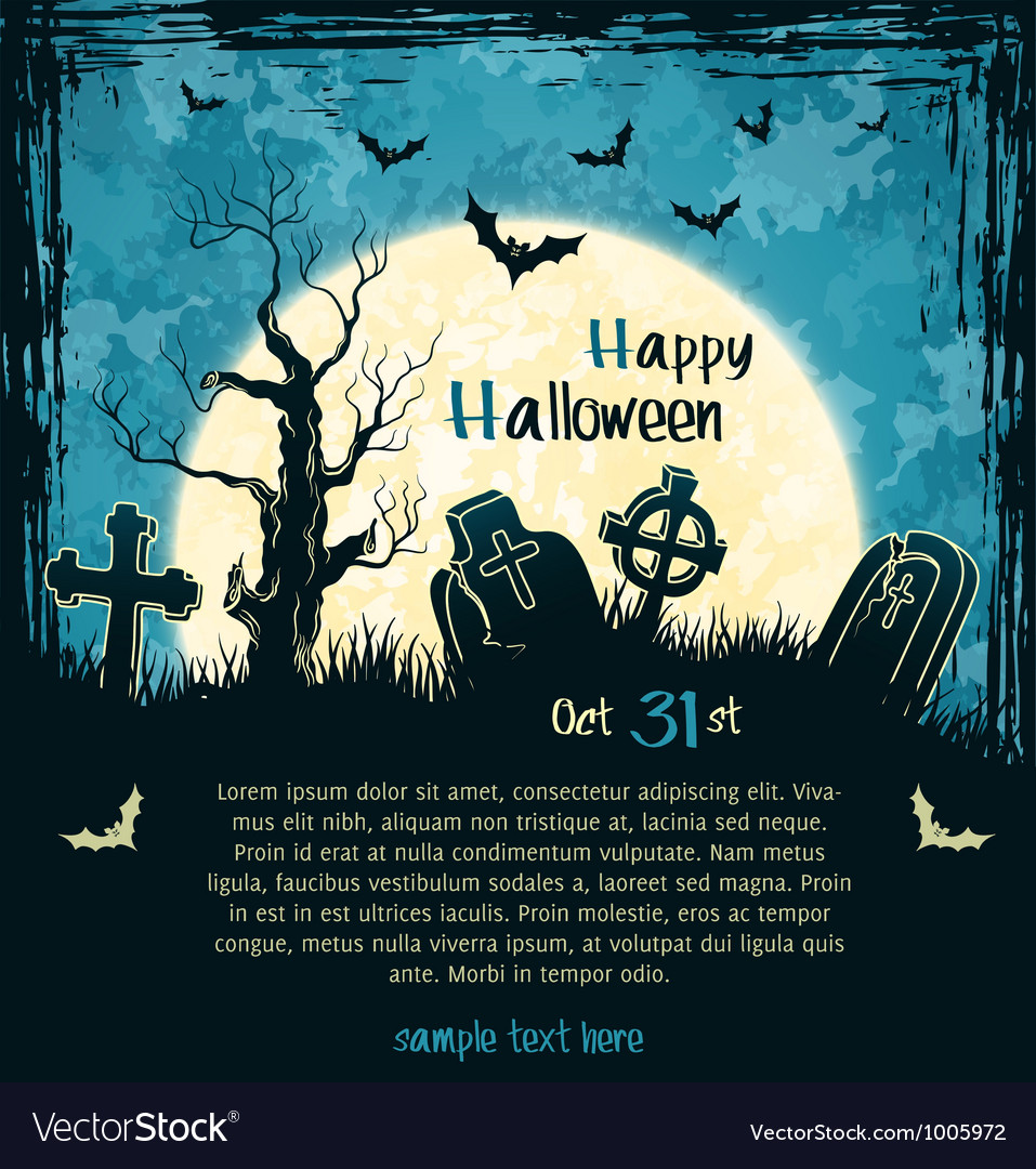 Blue grungy halloween background vector | Price: 1 Credit (USD $1)