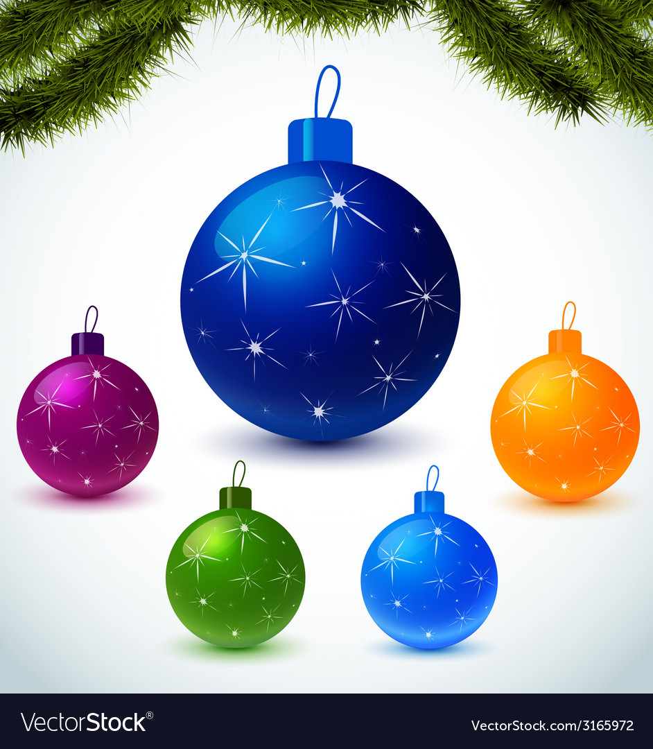 Colorful christmas balls vector | Price: 1 Credit (USD $1)