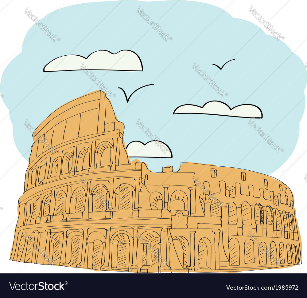 Great colosseum rome italy vector | Price: 1 Credit (USD $1)