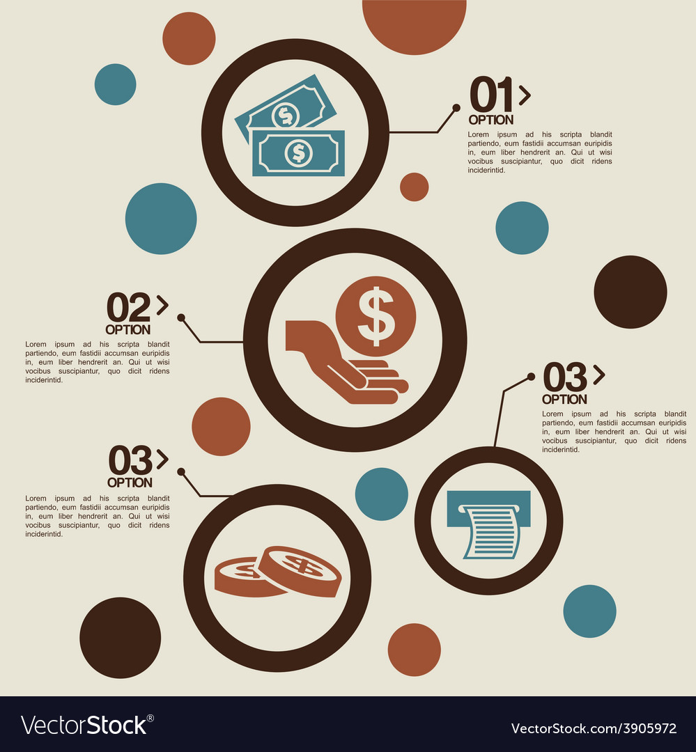 Money infographics vector | Price: 1 Credit (USD $1)