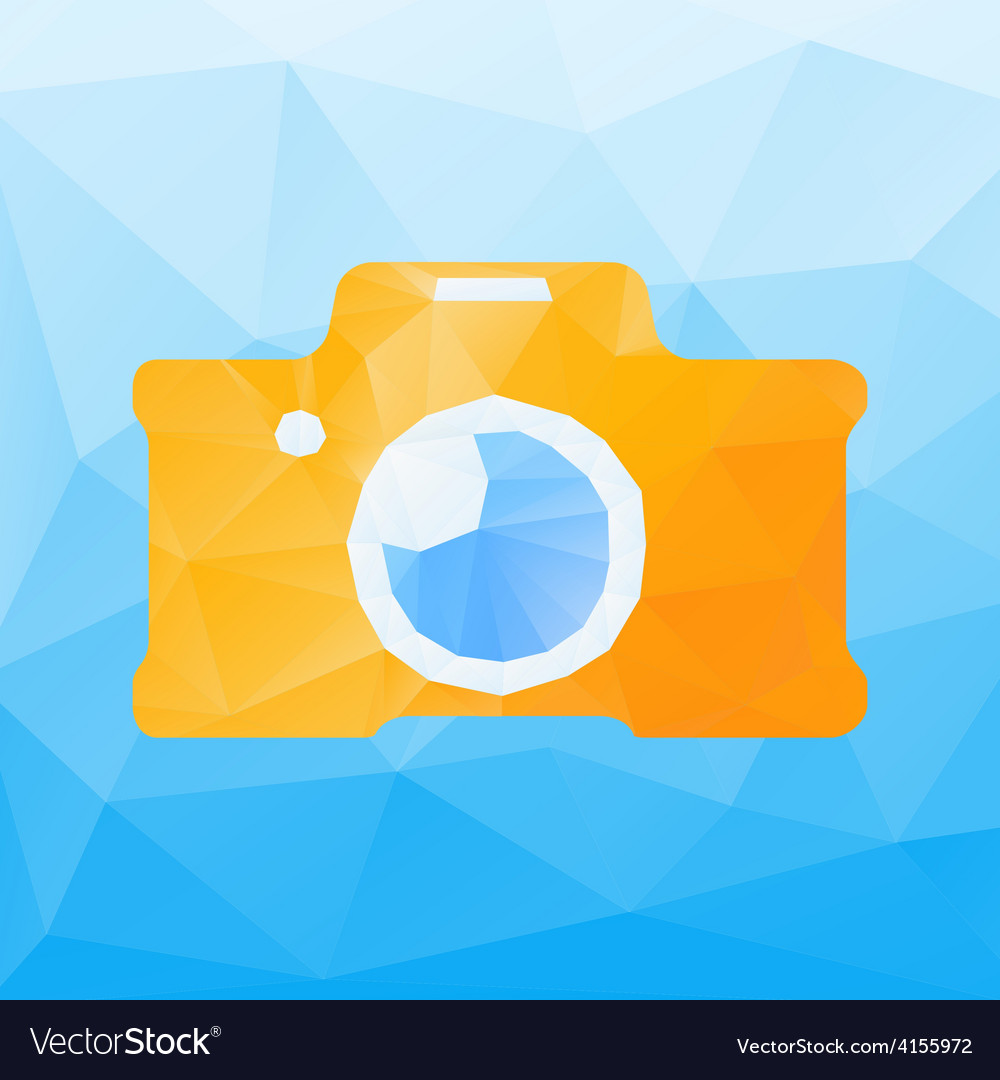 Polygonal camera vector | Price: 1 Credit (USD $1)
