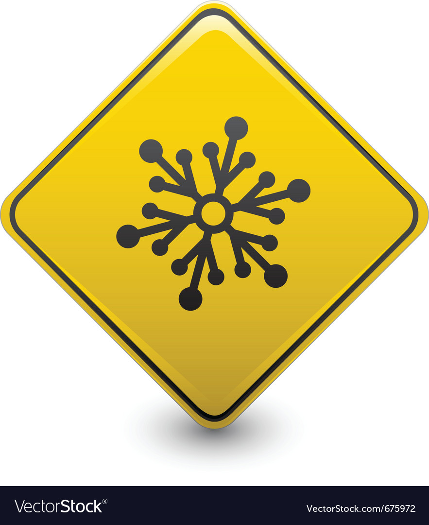 Snow warning sign vector | Price: 1 Credit (USD $1)