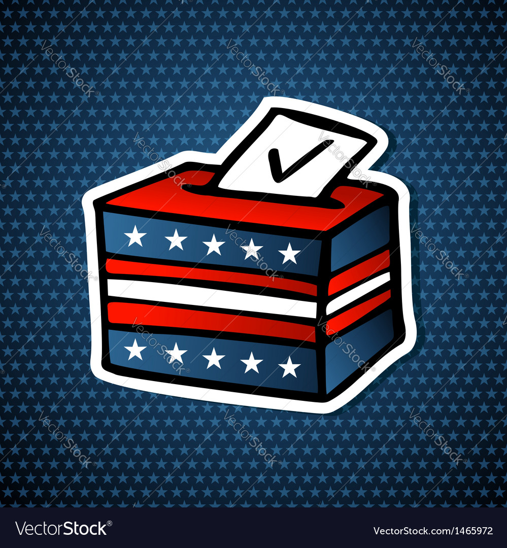 Usa elections ballot box vector | Price: 1 Credit (USD $1)