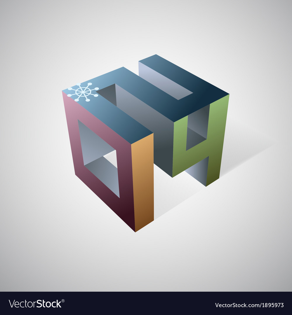 2014 cube logo vector | Price: 1 Credit (USD $1)