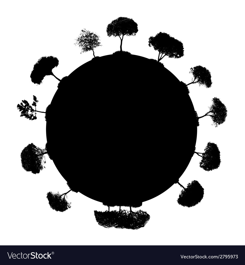 Abstract silhouette tree vector | Price: 1 Credit (USD $1)