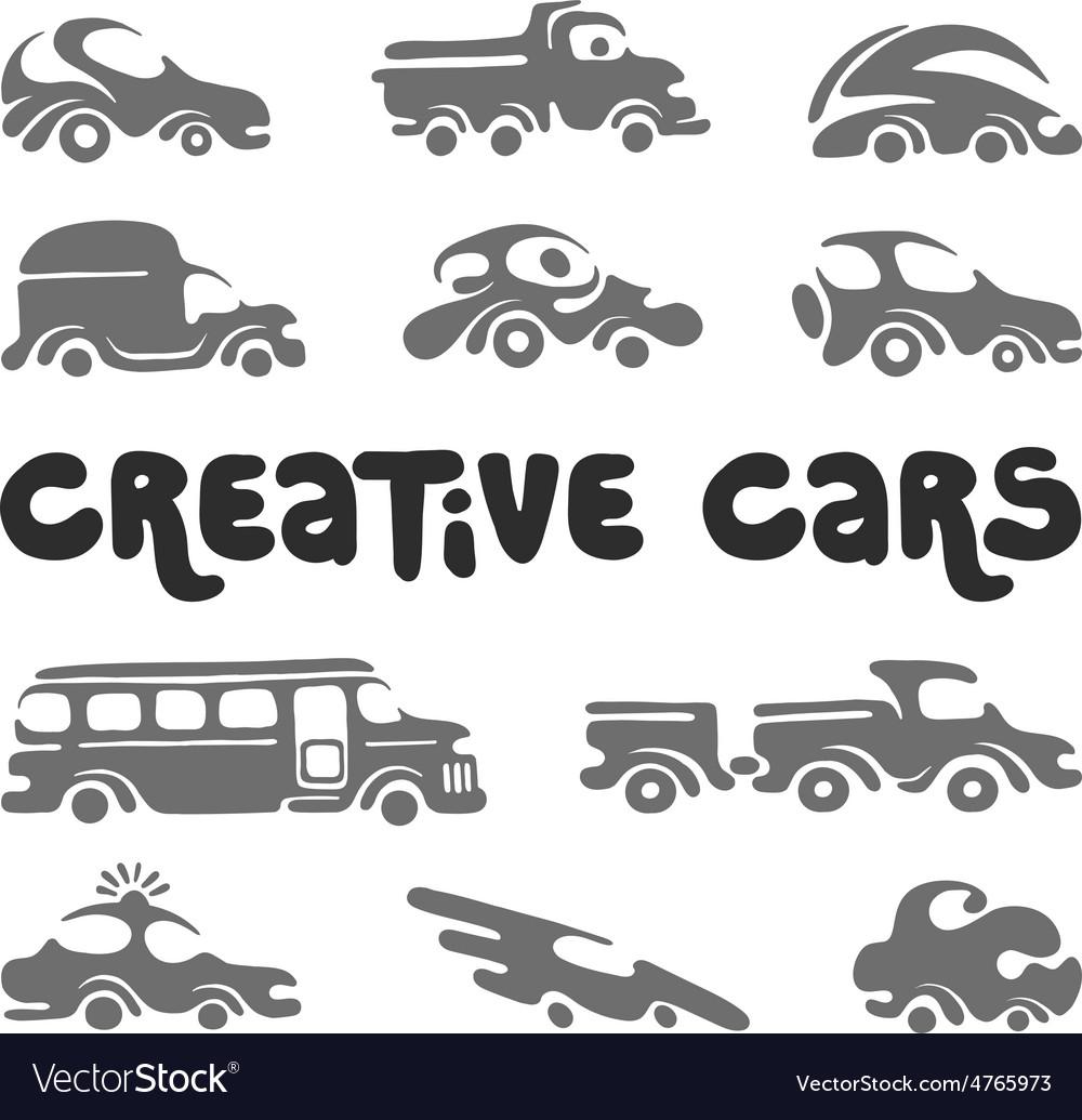 Creative cars design elements vector | Price: 1 Credit (USD $1)