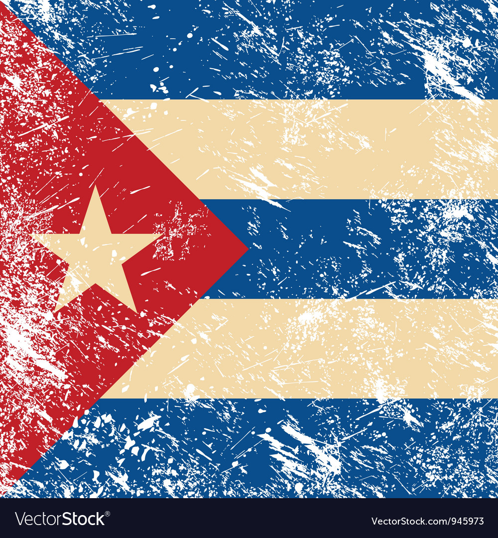 Cuba retro flag vector | Price: 1 Credit (USD $1)