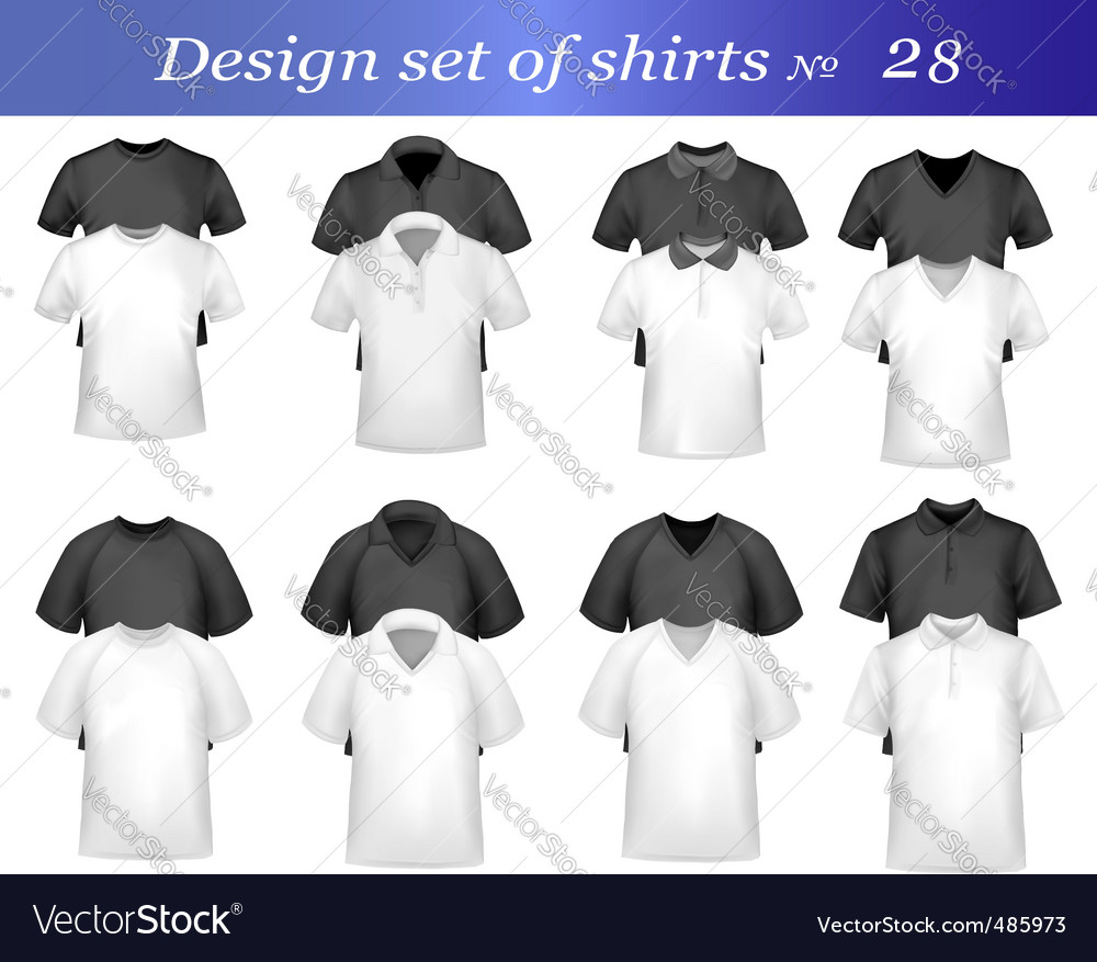Design set with many shirts vector | Price: 1 Credit (USD $1)