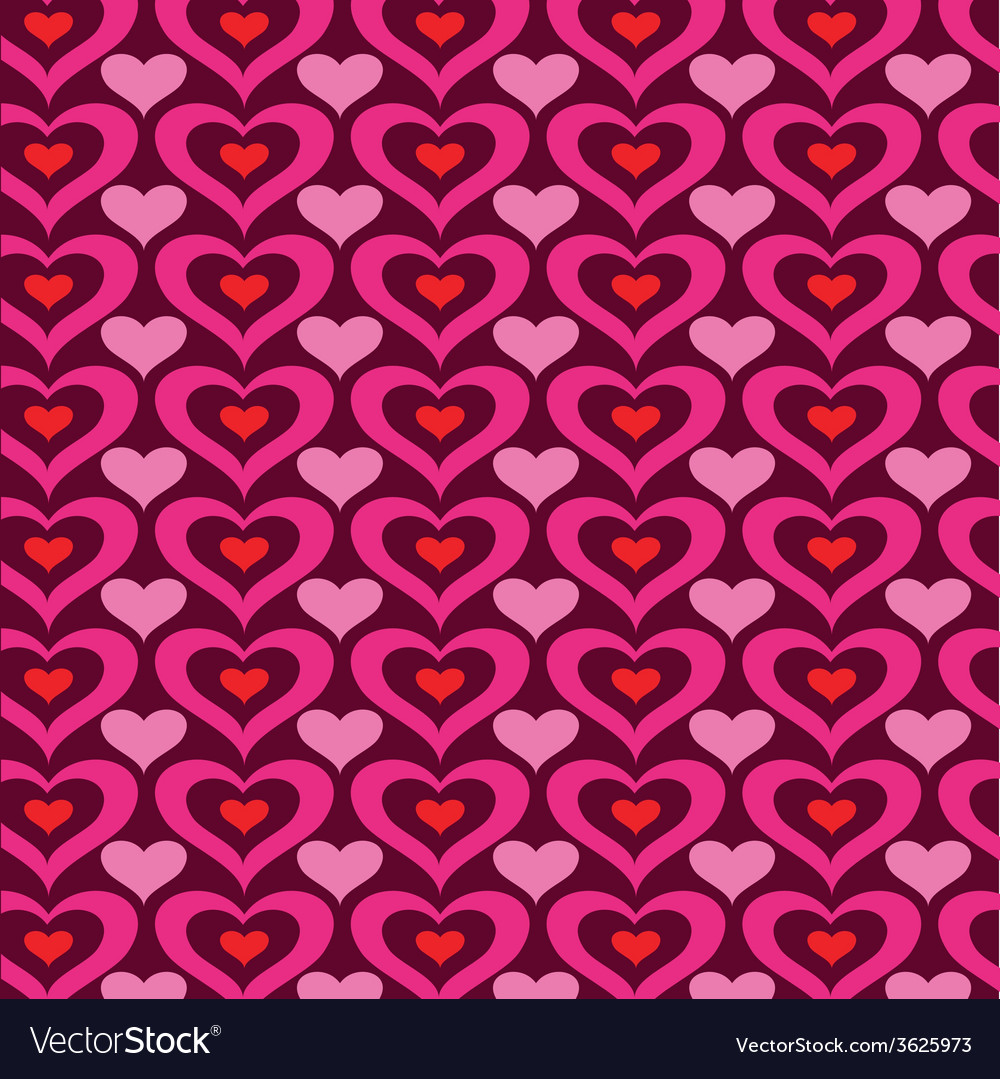 Heart pattern vector | Price: 1 Credit (USD $1)
