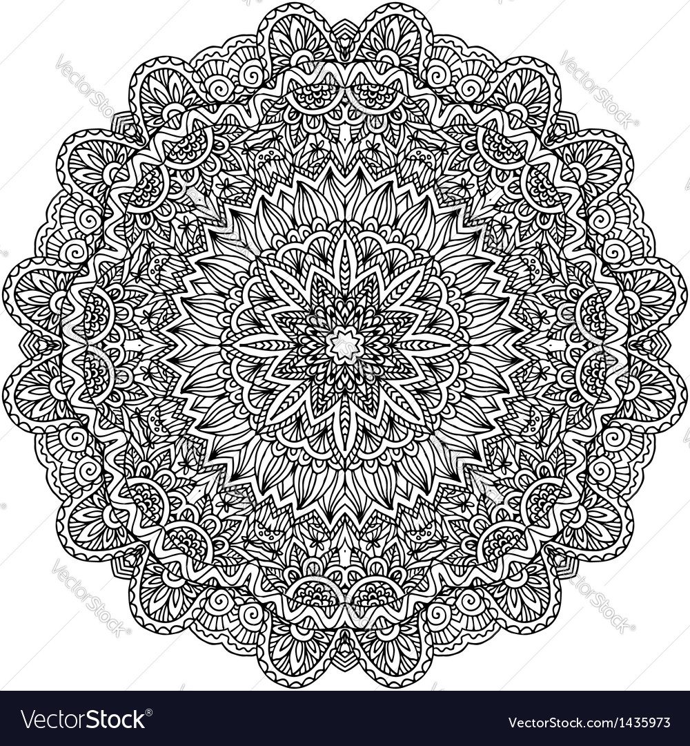 Lacy ornate black napkin vector | Price: 1 Credit (USD $1)