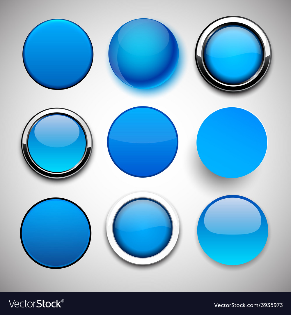 Round blue icons vector | Price: 1 Credit (USD $1)