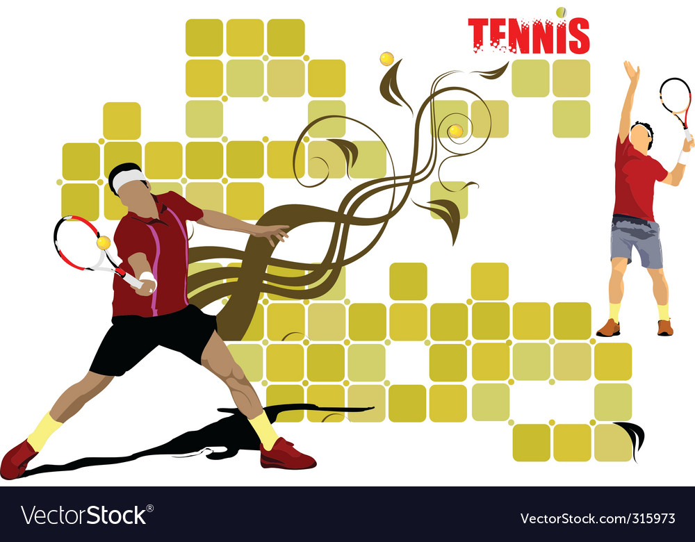 Tennis poster vector   Price: 1 Credit (USD $1)