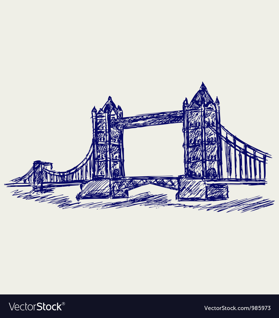 Tower bridge vector | Price: 1 Credit (USD $1)