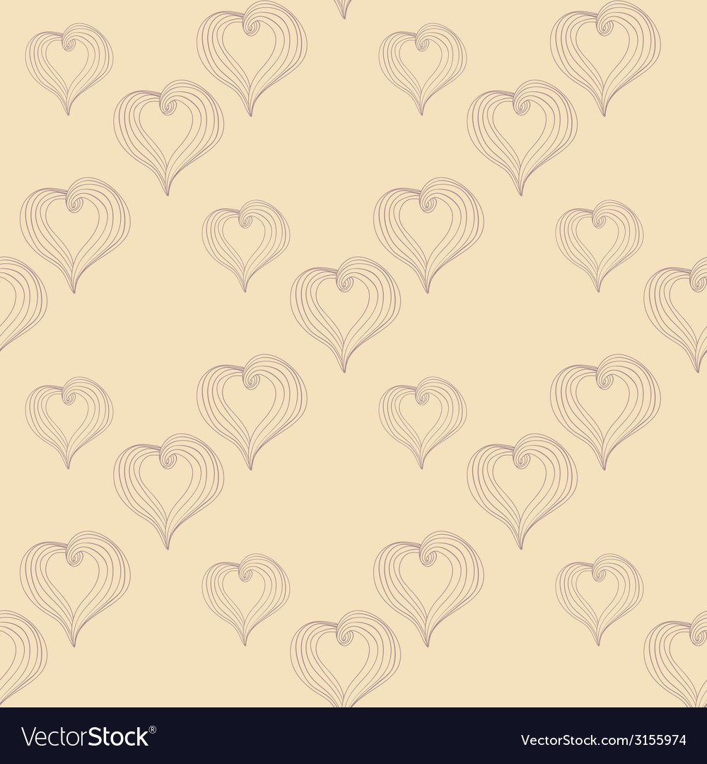 Abstract hearts on a beige background vector | Price: 1 Credit (USD $1)