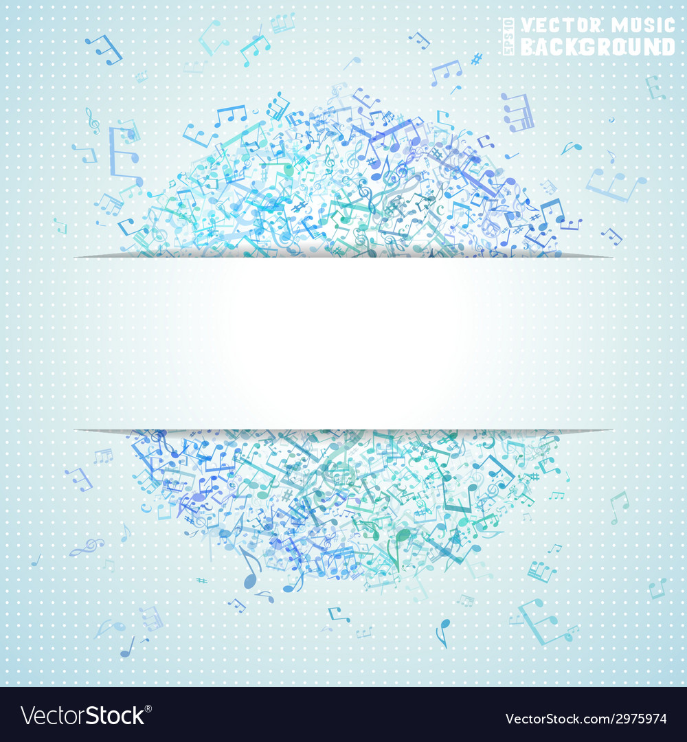 Blue square music background vector   Price: 1 Credit (USD $1)