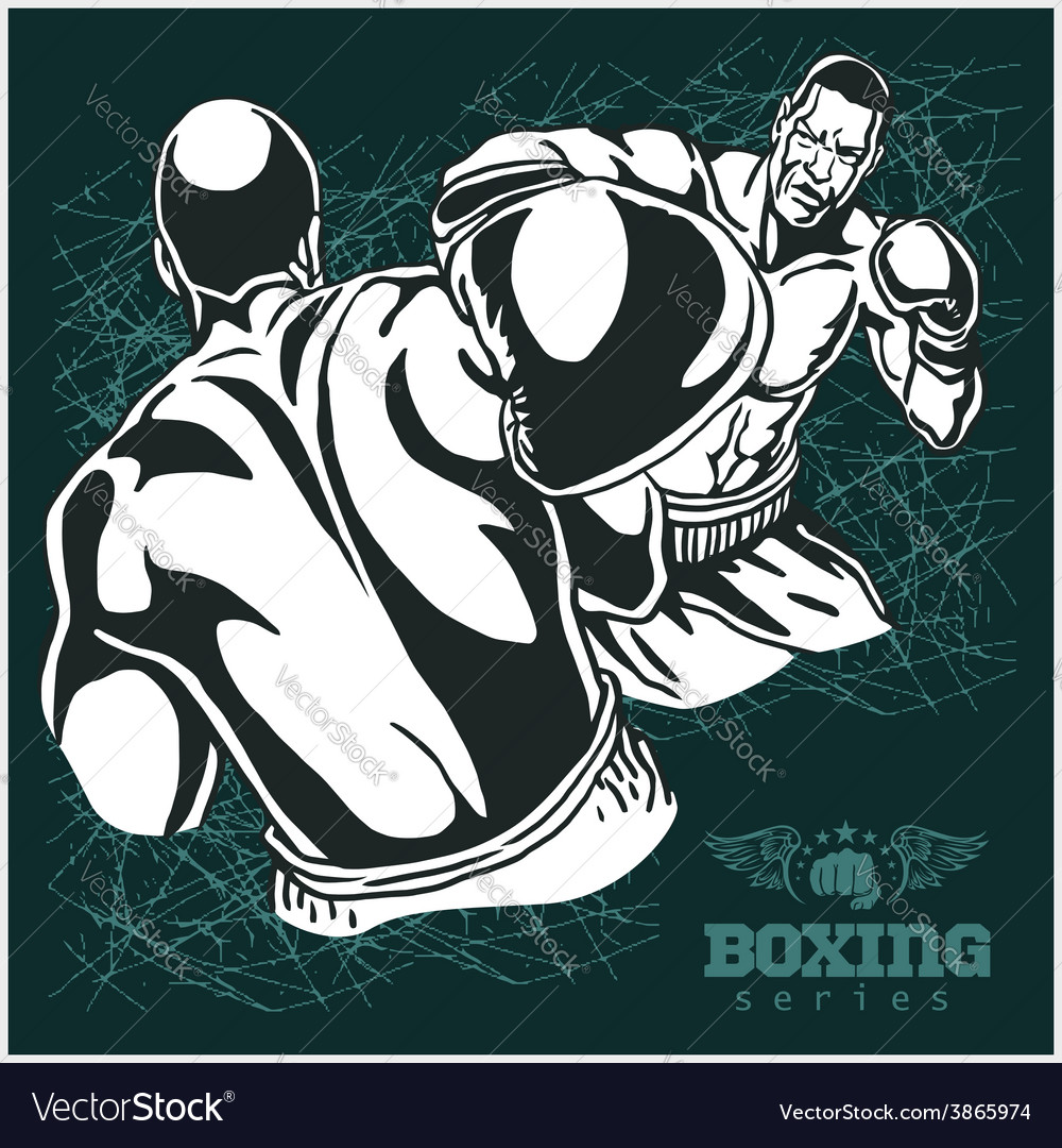 Boxing match - retro on grunge vector   Price: 3 Credit (USD $3)