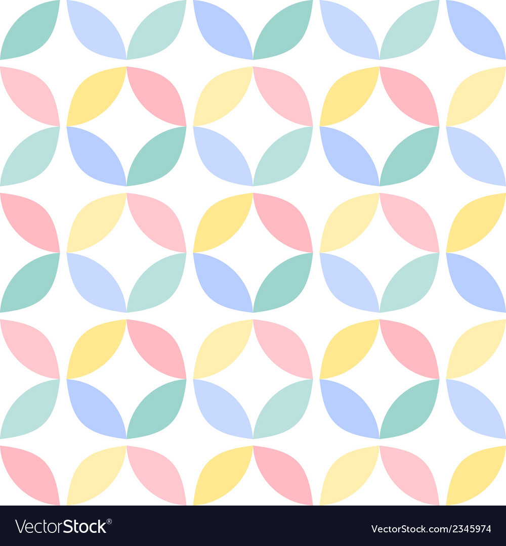 Colorful geometric circle seamless pattern vector | Price: 1 Credit (USD $1)