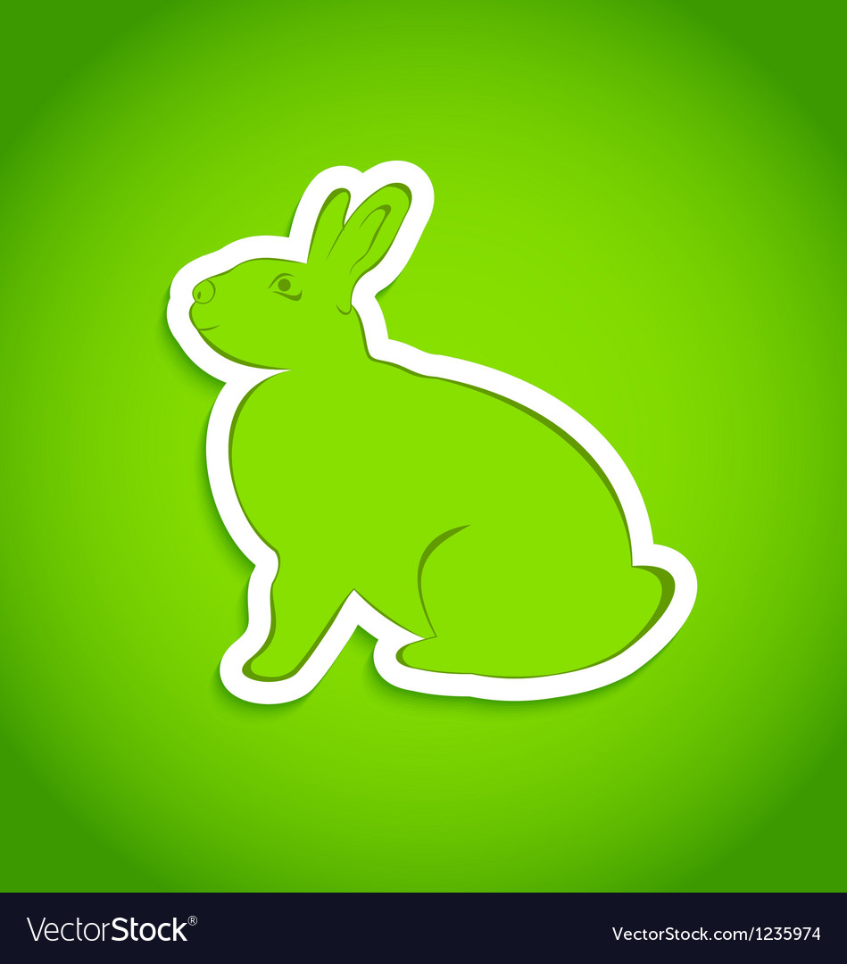 Easter greeting rabbit isolated vector | Price: 1 Credit (USD $1)