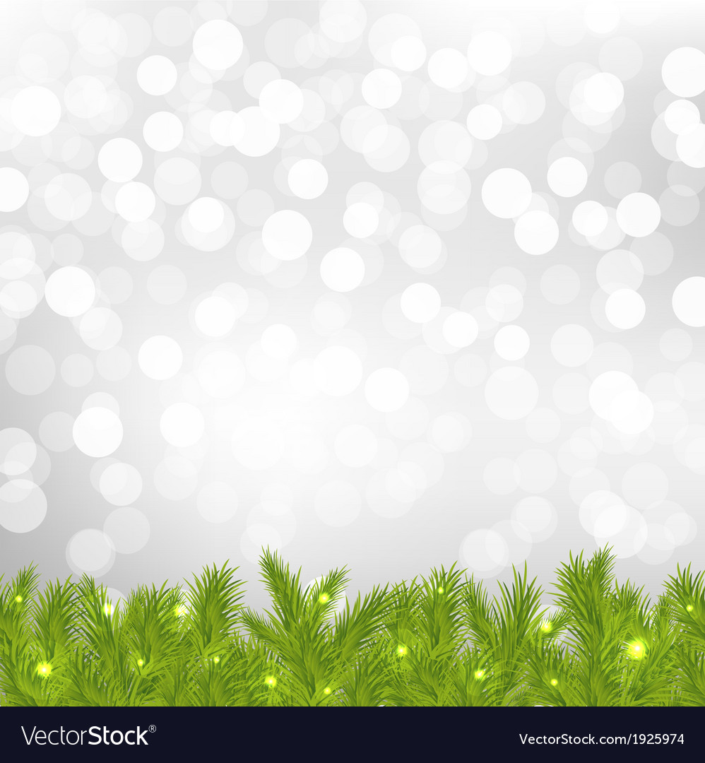 Firtree with silver bokeh vector | Price: 1 Credit (USD $1)