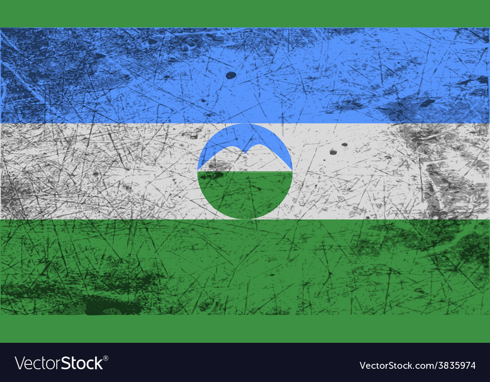 Flag of kabardino-balkaria with old texture vector   Price: 1 Credit (USD $1)