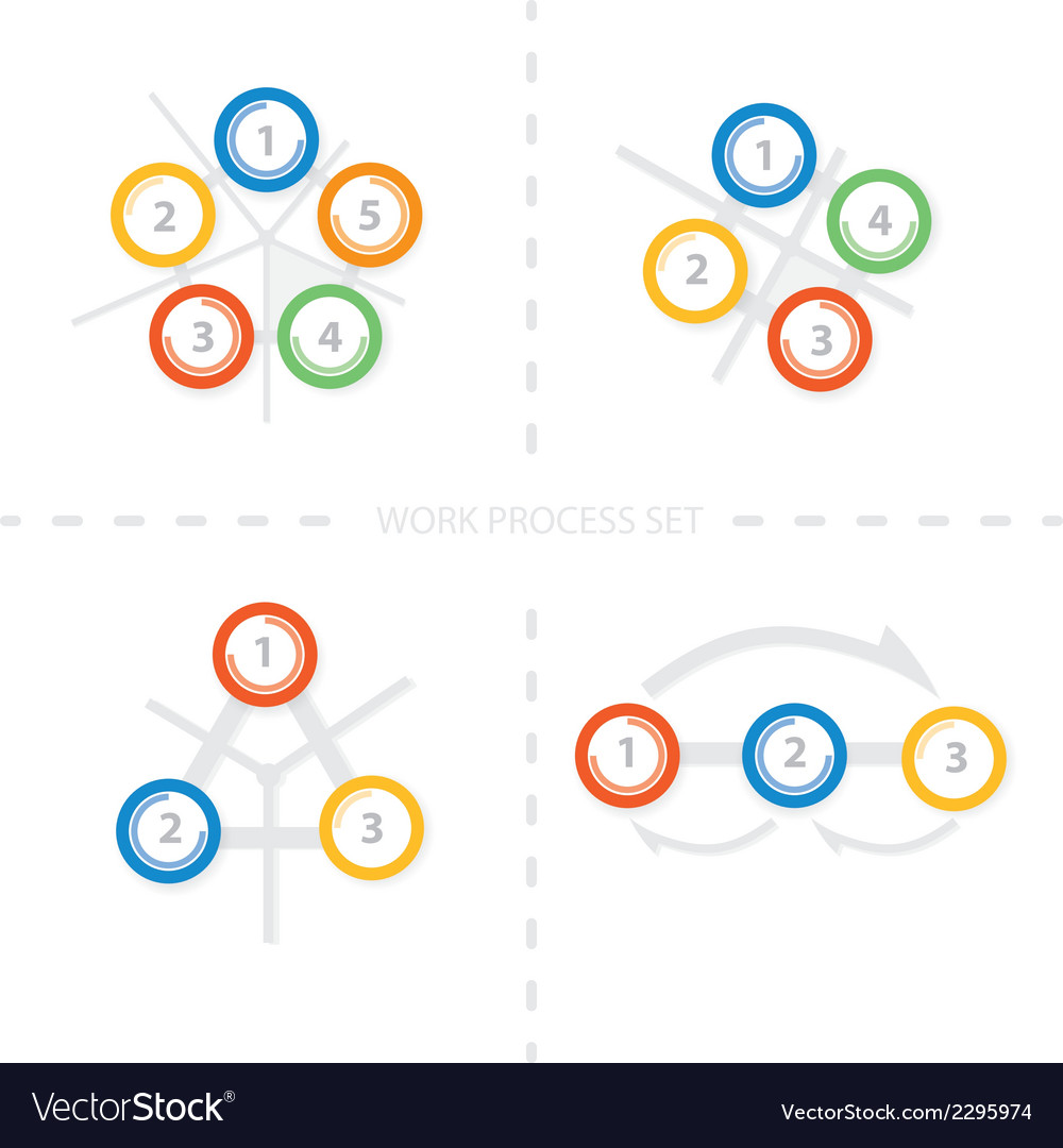Four set of colorful design for workflow layout di vector | Price: 1 Credit (USD $1)