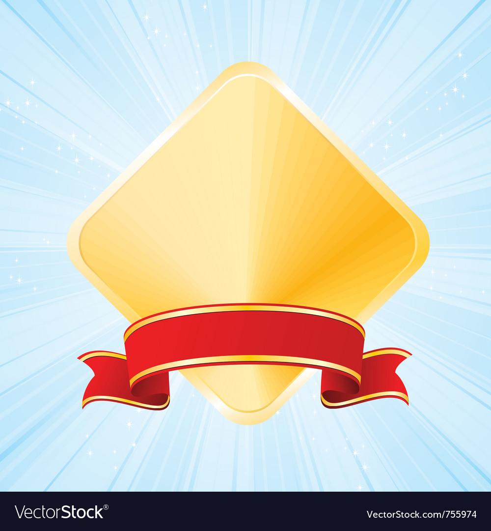 Golden award vector