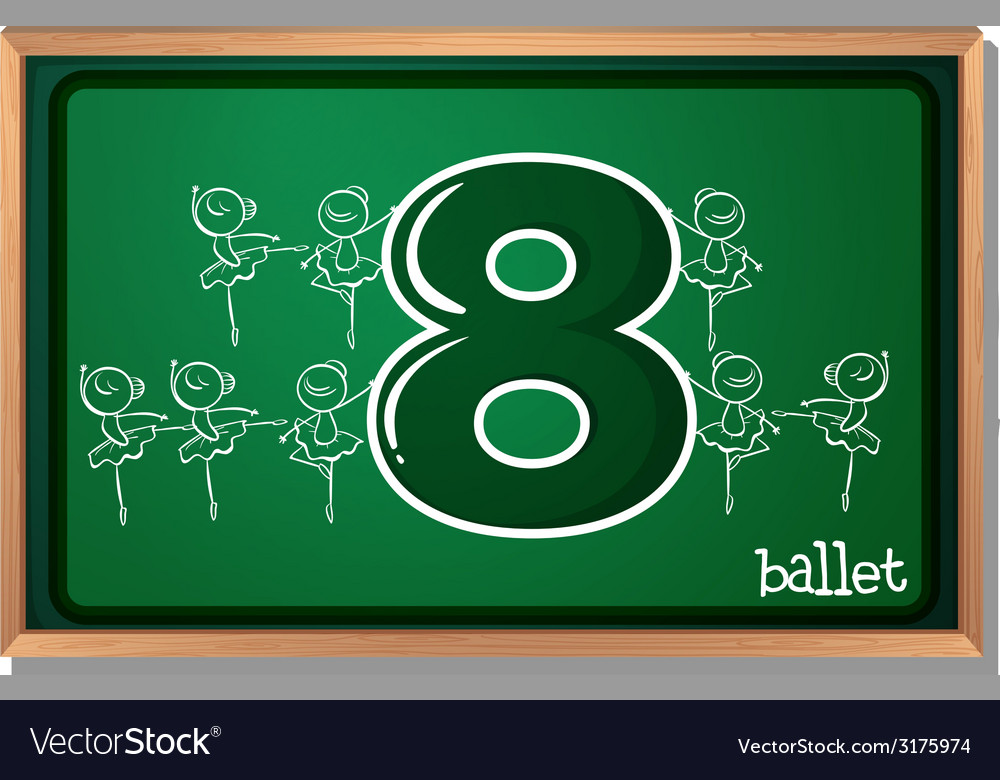 Number 8 vector | Price: 1 Credit (USD $1)