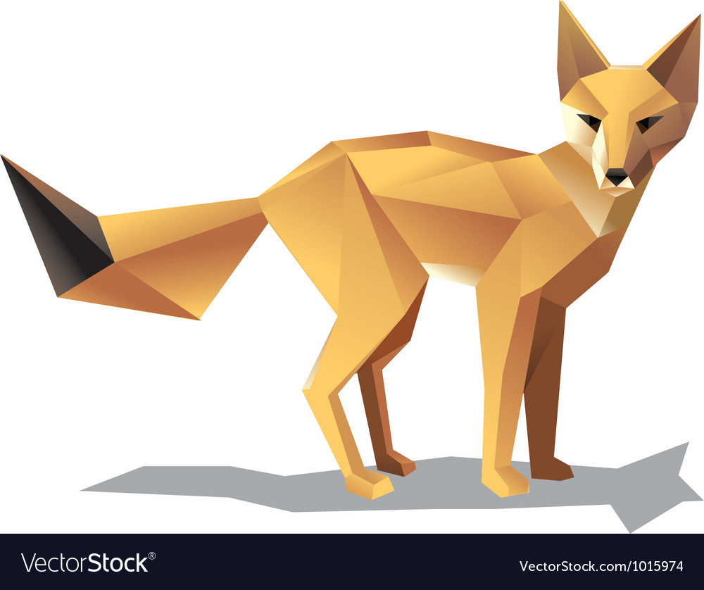 Satnding fox vector | Price: 1 Credit (USD $1)