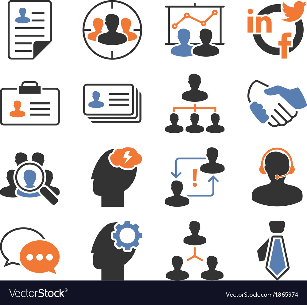 Seo human resources vector | Price: 1 Credit (USD $1)