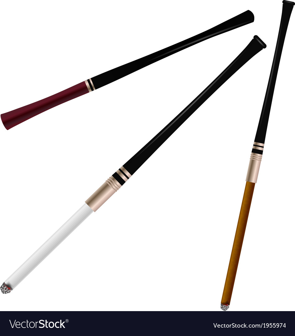Set cigarette holders vector | Price: 1 Credit (USD $1)