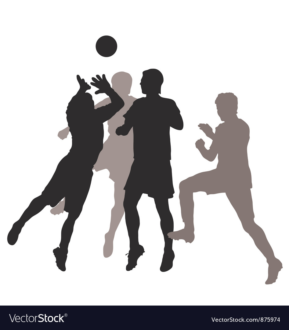 Soccer silhouette vector | Price: 1 Credit (USD $1)