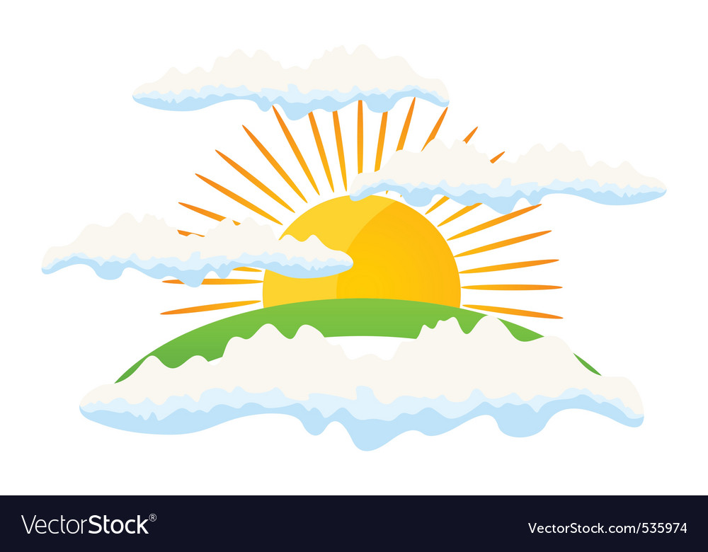 Sun rise vector | Price: 1 Credit (USD $1)