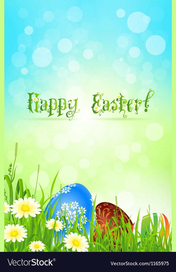 Beautiful easter background vector | Price: 1 Credit (USD $1)
